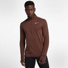 Мужская беговая футболка с молнией на половину длины Nike Therma Sphere Element