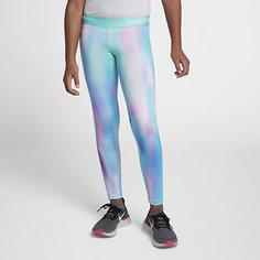 Тайтсы с принтом для девочек Nike Pro Warm