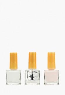 Набор лаков для ногтей Nice View Французский маникюр 3 * 6мл (основа+белый+бледно-розовый)