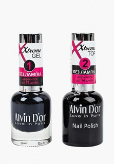 Набор гель-лаков Alvin Dor Гель Xtreme extreme (Лак+Top) 2х15мл.5230 тон MIX 30