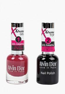 Набор лаков для ногтей Alvin Dor Гель Xtreme extreme (Лак+Top) 2х15мл.5226 тон MIX 26