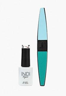 Набор для ухода за ногтями Runail Professional пилка для ногтей и Гель-лак INDI laque, 9 мл №3650