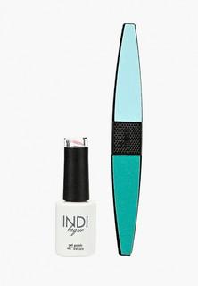 Набор для ухода за ногтями Runail Professional пилка для ногтей и Гель-лак INDI laque Тон №3346, 9 мл