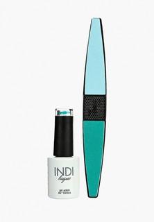 Набор для ухода за ногтями Runail Professional пилка для ногтей и Гель-лак INDI laque Тон №3355, 9 мл