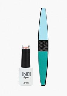 Набор для ухода за ногтями Runail Professional пилка для ногтей и Гель-лак INDI laque, 9 мл №3734