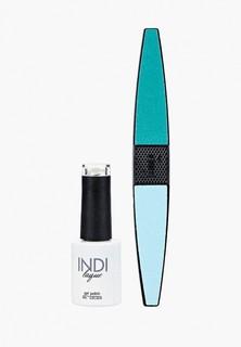 Набор для ухода за ногтями Runail Professional пилка для ногтей и Гель-лак INDI laque, 9 мл №3579