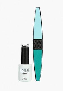 Набор для ухода за ногтями Runail Professional пилка для ногтей и Гель-лак INDI laque, 9 мл №3683