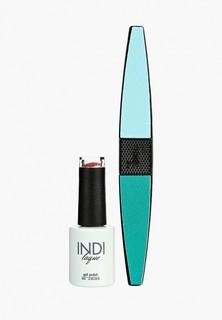 Набор для ухода за ногтями Runail Professional пилка для ногтей и Гель-лак INDI laque, 9 мл №3668