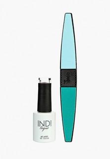 Набор для ухода за ногтями Runail Professional пилка для ногтей и Гель-лак INDI laque Тон №3349, 9 мл