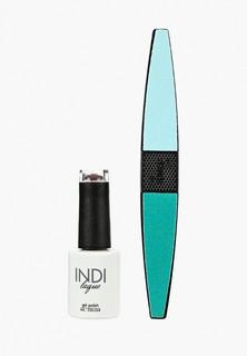Набор для ухода за ногтями Runail Professional пилка для ногтей и Гель-лак INDI laque, 9 мл №3708