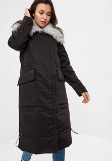 Куртка утепленная LOST INK FAUX FUR COLLAR LONGLINE PADDED COAT