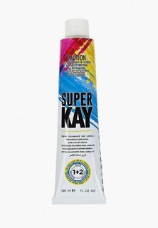 Краска для волос KayPro SUPER KAY 6.1 ПЕПЕЛЬНЫЙ ТЕМНЫЙ БЛОНДИН 180 МЛ.