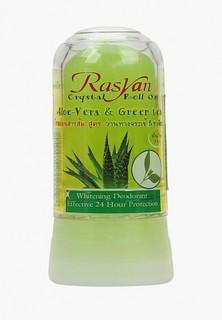 Дезодорант Ras Yan кристалл алое вера и зеленым чаем, 80 г