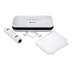 Вакуумный упаковщик Kitfort KT-1502-1 110Вт белый/серый