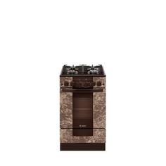 Газовая плита GEFEST ПГ 5500-02 0114, газовая духовка, коричневый мрамор