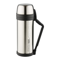 Термос THERMOS FDH Stainless Steel Vacuum Flask, 2л, стальной/ черный