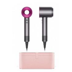 Фен DYSON HD01 Supersonic Pink Case, 1600Вт, фуксия и серебристый