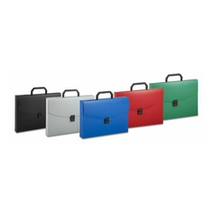 Портфель Бюрократ -BPP01 1 отдел. A4 пластик 0.7мм ассорти