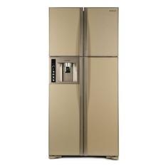 Холодильник HITACHI R-W 662 PU3 GBE, двухкамерный, бежевый стекло