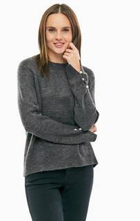 Серый джемпер с круглым вырезом Vero Moda