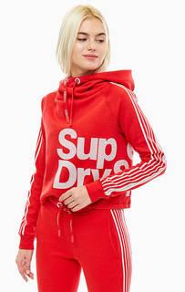 Укороченная толстовка красного цвета Superdry