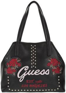 Сумка черного цвета с дополнительной сумкой Guess