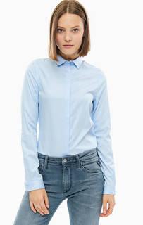 Хлопковая рубашка-боди синего цвета Replay