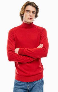Красная водолазка из мериносовой шерсти Selected