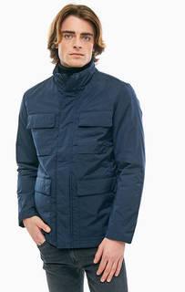 Синяя куртка с воротником-стойкой Selected