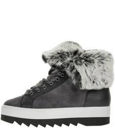 Замшевые ботинки с меховой отделкой Högl