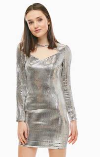 Короткое вечернее платье с декором из пайеток Guess