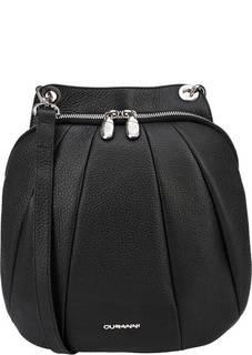 Кожаная сумка-рюкзак черного цвета Curanni