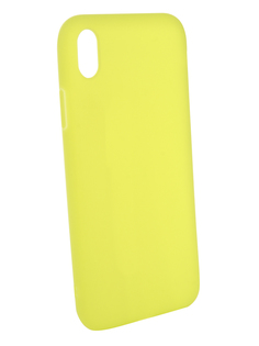 Аксессуар Чехол Gurdini Matte Silicone 0.3mm для APPLE iPhone XR 6.1 Lime Green 906925