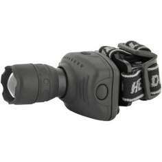Налобный фонарь ultraflash led5354 серый, 1вт led, zoom, 3 режима, 3xr03, пластик, коробка 11549