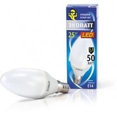 Светодиодная лампа ecowatt b35 230в 5.3w 4000k e14 холодный белый свет свеча 4606400419334