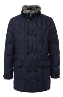 Пуховая куртка на молнии с воротником-стойкой Moorer