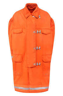 Пальто свободного кроя с накладными карманами CALVIN KLEIN 205W39NYC