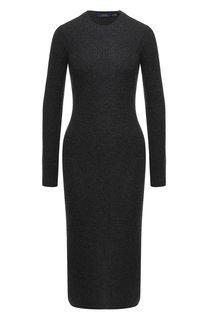 Вязаное платье-миди из смеси шерсти и кашемира с круглым вырезом Polo Ralph Lauren