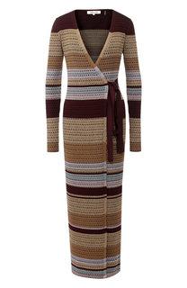 Вязаное платье с запахом Diane Von Furstenberg