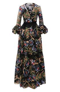 Платье-макси с принтом Diane Von Furstenberg