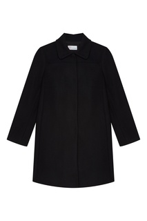Укороченное черное пальто Red Valentino