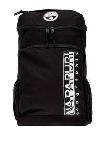 Черный рюкзак с принтом Napapijri