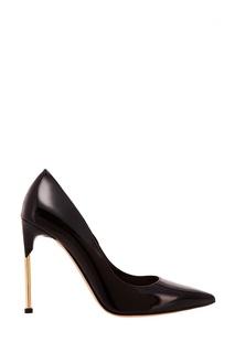 Черные лакированные туфли на шпильке Alexander Mc Queen