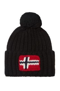 Черная шапка с помпоном Napapijri