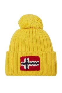 Желтая шапка с помпоном Napapijri