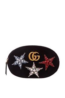 Поясная сумка GG Marmont со звездами Gucci