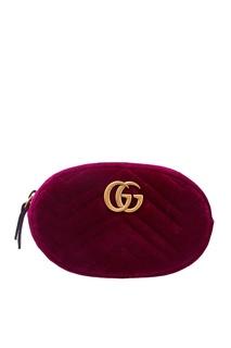 Поясная сумка GG Marmont фуксия Gucci