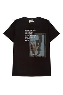 Черная футболка с принтом и надписями Each X Other