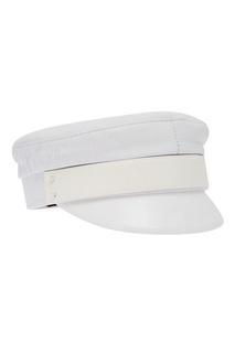 Белая комбинированная кепка Baker Boy Ruslan Baginskiy