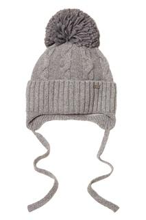 Серая шапка с завязками Junior Republic